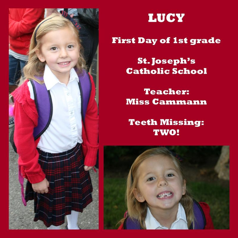 Lucy first day 1st grade