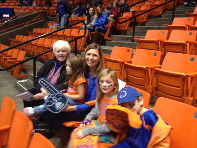 Boise state bball with grammy